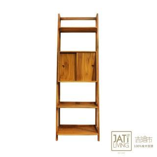 【吉迪市柚木家具】多層式斜角高書架/收納架(PP580 收藏 省空間 層架 展示架 置物櫃)