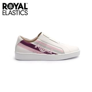 【ROYAL Elastics】女-Bishop Color Line 真皮運動休閒鞋-白粉紫(91791-016)