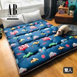 【AndyBedding】MIT 8cm純棉止滑日式床墊-雙人5尺