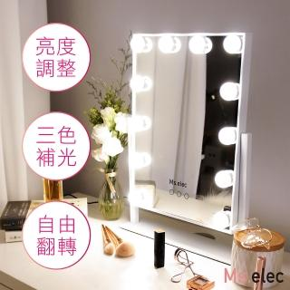 【Ms.elec 米嬉樂】璀璨巨星燈泡化妝鏡LM-006(LED化妝鏡/好萊塢鏡/燈泡鏡/三色補光)