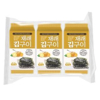 【MOTOMOTOYAMA】朝鮮海苔柚香風味10枚x3包(4.5g/包)