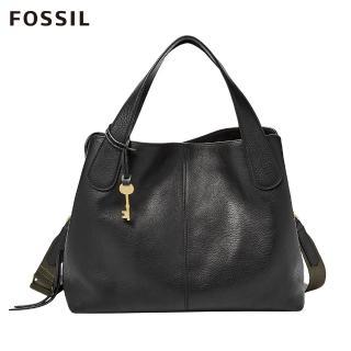 【FOSSIL】MAYA 黑色柔軟真皮手拿包ZB7566001