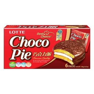 【LOTTE 樂天】巧克力派6顆裝