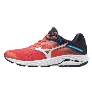 【MIZUNO 美津濃】Mizuno Wave Inspire 15  女鞋 運動 慢跑 路跑 馬拉松 美津濃 紅銀 寬楦(J1GD194601)