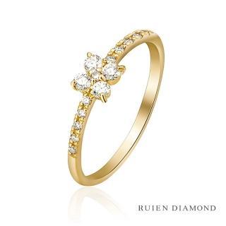 【RUIEN DIAMOND 瑞恩鑽石】輕珠寶系列 四夜草(18K黃金 鑽石戒指)