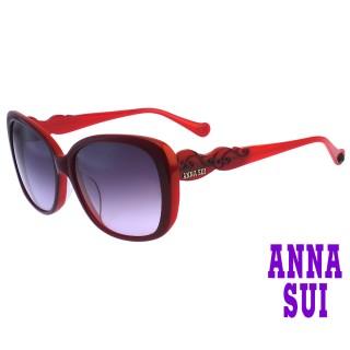 【ANNA SUI 安娜蘇】安娜圖騰系列太陽眼鏡(AS931-738-紅)