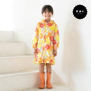 【w.p.c】空氣感兒童雨衣/超輕量防水風衣 附收納袋(克拉拉花朵M)