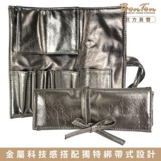【BonTon】5孔入金屬皮質綁帶式刷包