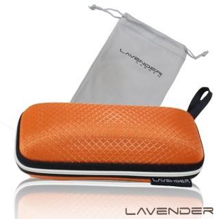 【Lavender】擦拭收納兩用袋與眼鏡盒套組-橘(眼鏡盒)