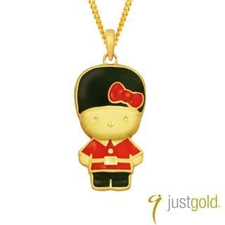 【Just Gold 鎮金店】皇家衛兵Kitty純金系列 黃金墜子