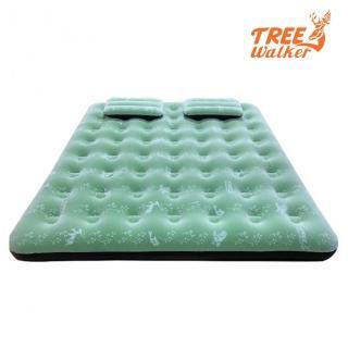 【TreeWalker】鏕遊趣雙印植絨充氣床(附雙枕頭與打氣筒)