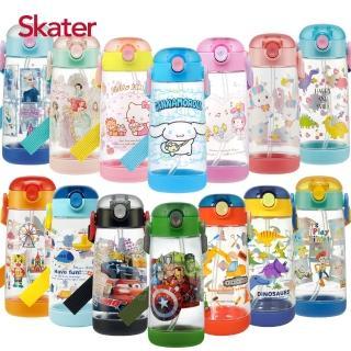 【Skater】透明吸管PET水壺(480ml)
