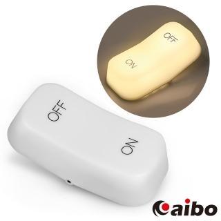 【aibo】USB充電式 ON-OFF開關造型 重力感應燈(黃光)