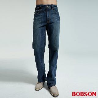 【BOBSON】男款配花布中直筒褲(1706-53)