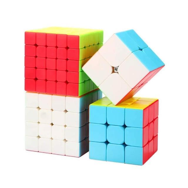 【888ezgo】魔方格魔術方塊大禮盒(2階+3階+4階+5階+魔方秘笈)(6色炫彩版)(授權)