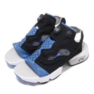 【REEBOK】涼拖鞋 Instapump Fury 穿搭 女鞋 經典款 充氣科技 夏日 球鞋 穿搭 黑 藍(EF2913)