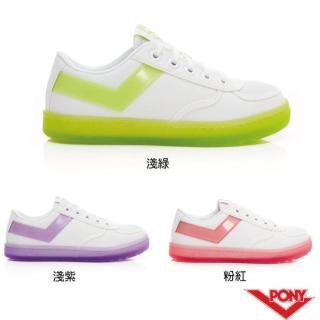 【PONY】SLAM DUNK繽紛水晶果凍底滑板鞋 小白鞋 休閒鞋 帆布鞋 女 三色