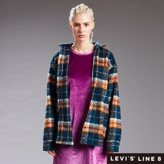 【LEVIS】男女同款 格紋襯衫外套 / Line 8 系列 / oversize 寬鬆版型 / 外刷毛