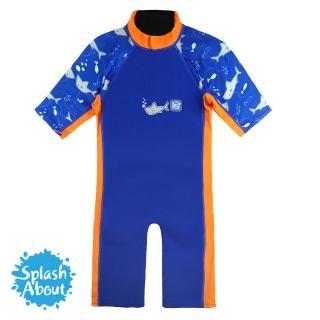 【Splash About 潑寶】UV Combie 兒童防寒泳裝(亮橘鯊魚)