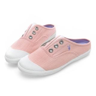 【PLAYBOY】百搭首選穆勒帆布鞋-粉-Y520999