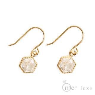 【me.luxe】K10黃K鋯石耳環(日本輕珠寶網路銷售NO.1)