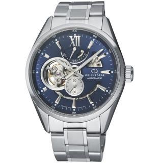 【ORIENT 東方錶】STAR東方之星OPEN HEART系列時尚錶(RE-AV0003L 藍)