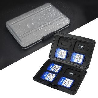 3D Air 防丟失防水防塵SD/TF記憶卡收納盒-16片裝(銀色)