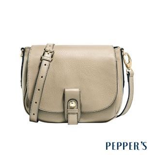 【PEPPER'S】Beverly 牛皮馬鞍包(亞麻灰)