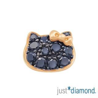 【Just Diamond】Hello Kitty黑鑽風潮18K玫瑰金系列 鑽石單耳耳環