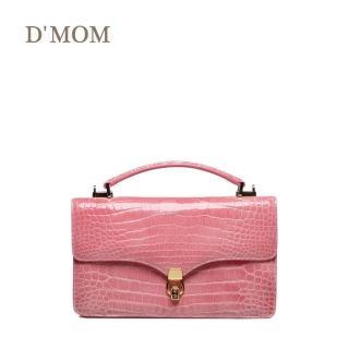 【DMOM】黑爵系列典雅腹皮鱷魚訂製包(粉色)