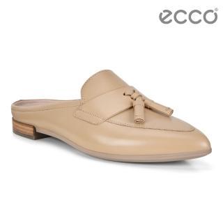 【ecco】SHAPE POINTY BALLERINA 復古流蘇正裝穆勒平底鞋 女(裸色 26948301310)