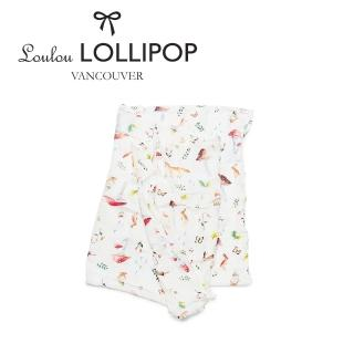 【Loulou lollipop】加拿大 竹纖維透氣包巾120x120cm(森林小動物)
