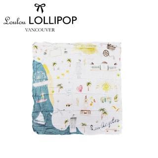 【Loulou lollipop】加拿大 竹纖維透氣包巾120x120cm(美國洛杉磯)
