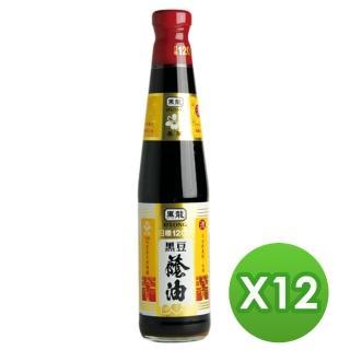 【黑龍】春蘭級黑豆蔭油(400mlx12瓶)