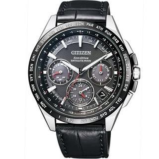 【CITIZEN 星辰】GPS衛星光動能時尚腕錶-黑44mm(CC9015-03E)