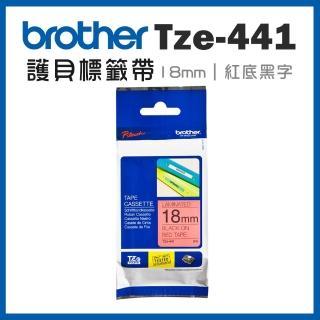 【brother】TZe-441★護貝標籤帶 18mm 紅底黑字(速達)