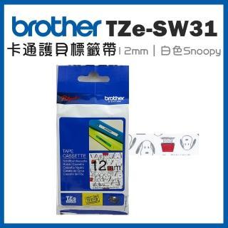 【brother】TZe-SW31★護貝標籤帶 12mm 白底Snoopy(速達)