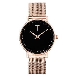【TYLOR】夢想原動力時尚腕錶-玫瑰金X黑(TLAF008)