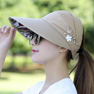 【89 zone】韓版簡約時尚珍珠休閒百搭防曬/遮陽帽(珍珠卡其)