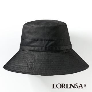 【Lorensa蘿芮】抗UV經典款蝴蝶結單色純棉防曬遮陽帽