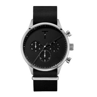【TYLOR】時尚原動力三眼腕錶-黑X銀(TLAE003)