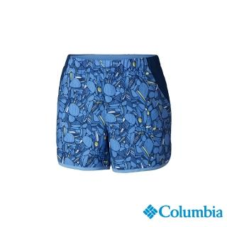 【Columbia 哥倫比亞】女款-UPF50快排彈性短褲-藍色(UAR26010BL/ 機能褲.防曬.快排)