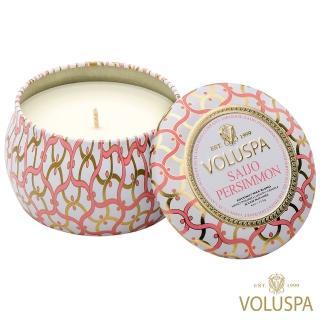 【美國 VOLUSPA】西條柿子 錫盒 113g香氛蠟燭(Saijo Persimmon)