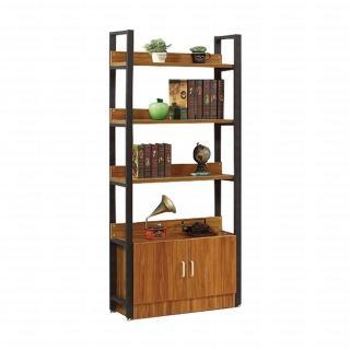【H&D】楊柳2.64尺二門書櫃(書櫃 收納櫃)