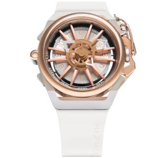【MAZZUCATO】義式工藝超跑美學翻轉機械石英雙面腕錶(RIM11-WHCG5)