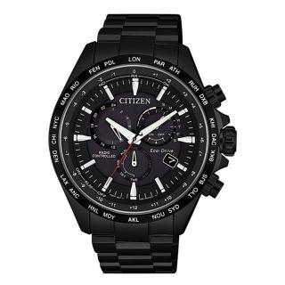 【CITIZEN 星辰】GENTS 光動能電波對時限定腕錶-黑45mm(CB5835-83E)