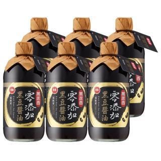 【萬家香】零添加無麩質黑豆醬油超值組(450ml/6瓶入)