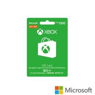 【Microsoft 微軟】XBOX 禮物卡 NT$1000 - ESD 數位下載版(可於Windows市集使用)