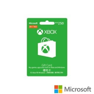 【Microsoft 微軟】XBOX 禮物卡 NT$250 - ESD 數位下載版(可於Windows市集使用)