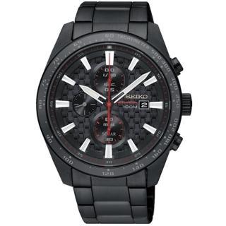 【SEIKO 精工】Criteria 極速限定計時男錶-鍍黑/42mm(V176-0AW0SD/SSC657P1)